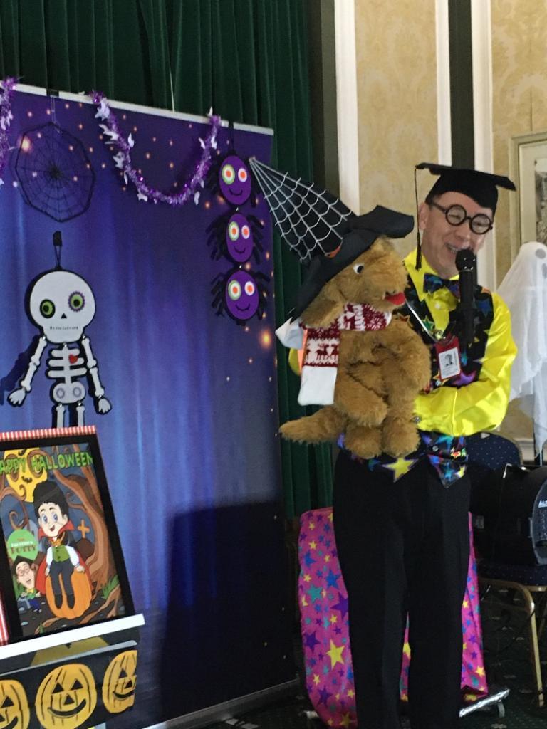 Professor Potty performs a Halloween Magic show