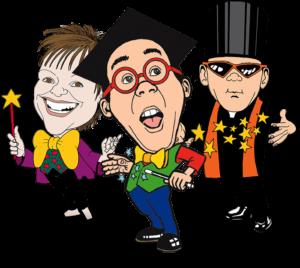 Children's Entertainers Magic Wanda, Professor Potty and the Amazing Alvan