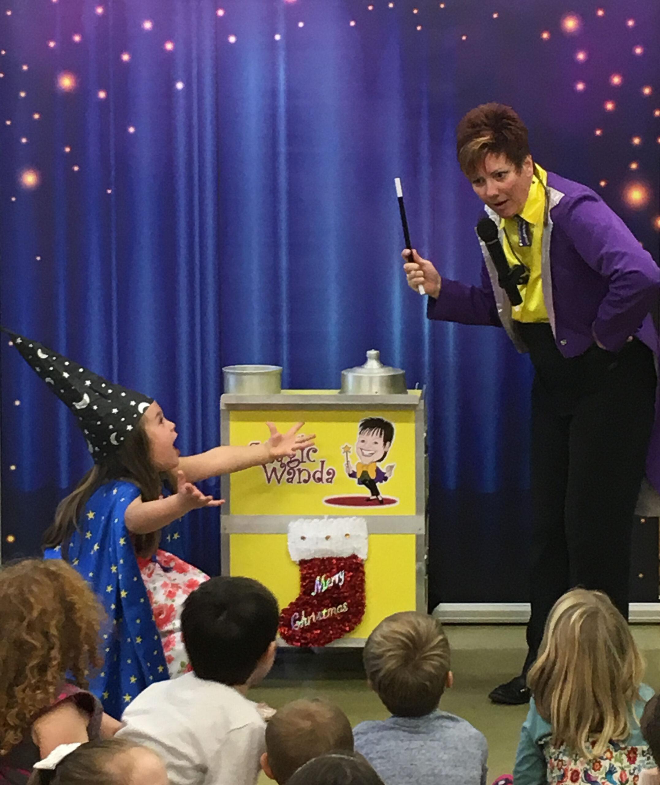 Magic Wanda with the birthday girl