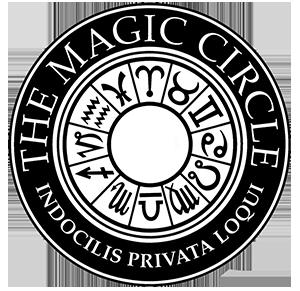 The Magic Circle logo - Alan and Caroline are both members of the Inner Magic Circle
