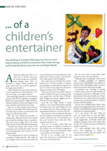The day in the life of a Children's Entertainer