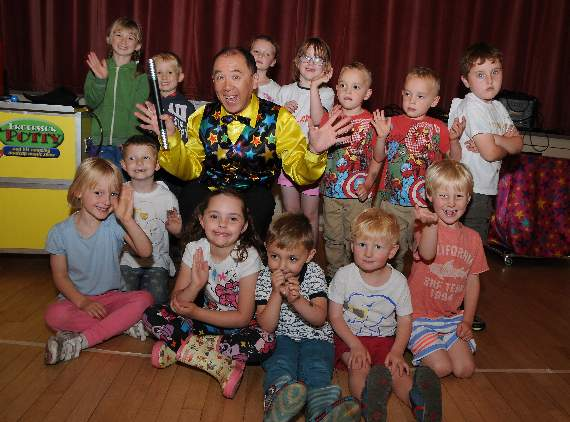 Children's Entertainer Professor Potty with School Christmas Party